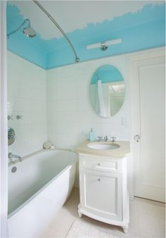 tub for upstairs... vanity style downstairs