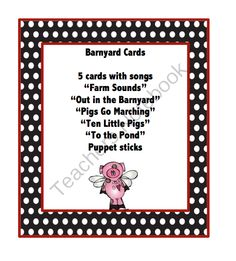 Barnyard Cards from Preschool Printables on TeachersNotebook.com (8 pages)