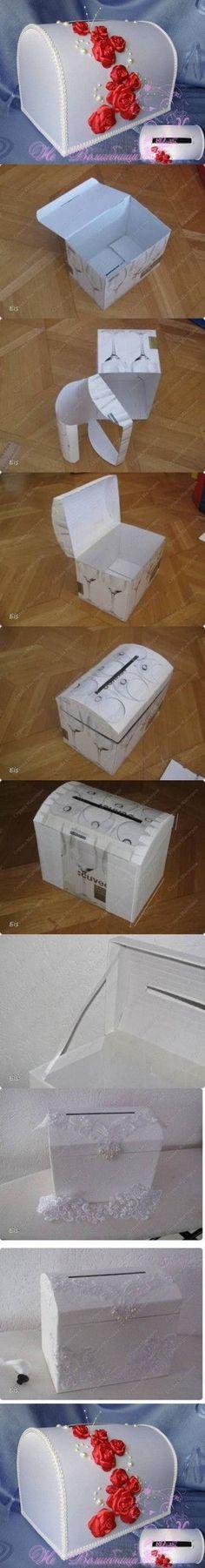DIY Caja de cartón del arte DIY Proyectos