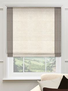 Roman Blind von Blinds - home accessories Seaboard Fareham Roman Blind von Blinds - home accessories - Seaboard Fareham Roman Blind von Blinds - home accessories - Navy Blue Lightweight Linen Roman Shade Home Curtains, Curtains With Blinds, Decor Blinds, Valances, Window Coverings, Window Treatments, Blinds Design, Blinds For Windows, Window Blinds