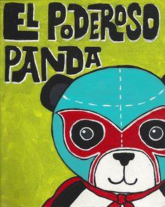 Luchamals Series- El Poderoso Panda by Studio Longoria #panda #wrestling #elpoderoso #studiolongoria
