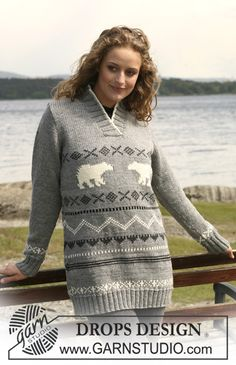 Free knitting patterns and crochet patterns by DROPS Design Knitting Patterns Free, Free Knitting, Free Pattern, Crochet Patterns, Drops Design, Punto Fair Isle, Cowichan Sweater, Alaska, Teddy Bear Clothes