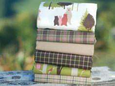 Fat quarter fabric bundle  100  cotton  Linz  by fabricsandfrills, $28.80