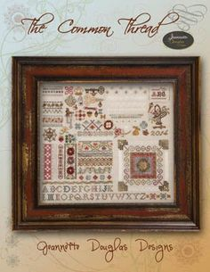 THERE MUST BE A SERIES OF COMMON THREAD SAMPLERS. THIS DOESN'T LOOK AT ALL LIKE THE LAST ONE i PINNED. Common Thread Sampler - Cross Stitch Pattern