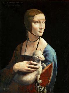 Leonardo da Vinci (1452–1519) Lady with an Ermine (Portrait of Cecilia Gallerani)1483-1490 Muzeum Czartoryskich w Krakowie