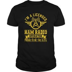 A licensed ham radio operator T-shirt =>   								If you dont absolutely love our design, just SEARCH your favorite one by using search bar on the header.  								  								  								  		  			5.3 oz., pre-shrunk 100% cotton  			Dark Heather is 50/50 cotton/polyester  			Sport Grey is 90/10 cotton/polyester  			Double-needle stitched neckline, bottom hem and sleeves  			Quarter-turned  			Seven-eighths inch seamless collar  			Shoulder-to-shoulder taping