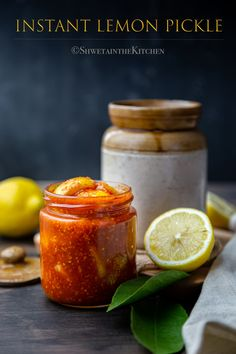 Instant Lemon Pickle  also known as Nimbu ka Achar is a quick and easy way of making the traditional sweet, spicy and tangy Indian condiment.  #lemonpickle #instantpickle #easypickle #instantpotrecipe #condiments #side #indianfood