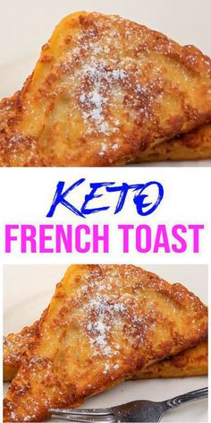 {Keto French Toast} Tasty & easy low carb keto french toast recipe w/ this 90 second microwave bread recipe. Quick & yummy french toast for simple keto breakfast, snack or keto dinner. Learn how to make keto french toast w/ these easy ketogenic diet recipe. Skip the fast food for breakfast & make this homemade low carb keto french toast. Pick your favorite toppings: syrup, jelly, butter & more. Check out this favorite keto food recipe :) #breakfast
