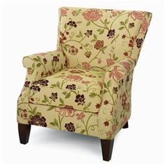 Craftmaster Accent Chairs Contemporary Upholstered Chair with Rolled Arms at DuBois Furniture