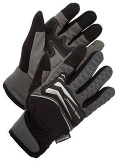Wells Lamont Insulated Knuckle Protection Gloves for Men - Black/Grey - XL