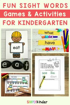Are you looking for easy Kindergarten sight word activities? Try these fun activities in your classroom! We've got free worksheets, fun games, and oodles of ideas for making learning fun. Perfect for independent learning or small groups. We have so many ideas that learning will never get boring. Click through to get all the ideas you'll ever need. #sightwords #kindergarten #teachingreading Sight Words Printables, Sight Word Worksheets, Sight Word Games, Free Worksheets, Sight Word Activities, Kids Learning Activities, Fun Learning, Teaching Ideas, Teaching Calendar