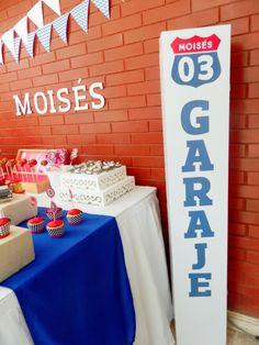 Fiesta de Garaje vintage. Birthday party vintage garage