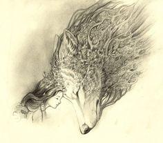 Dessin de loup d'après Game of Throne