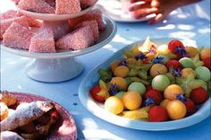 """Stuff to serve at a mad tea party. Play croquet, plenty of tea, jam, goodies labeled with """"eat and drink me"""""""