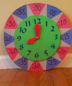 kids to learn time! Teaching Time, Teaching Math, Kids Learning Activities, Fun Learning, Learning Clock, Homeschool Math, Math For Kids, Math Classroom, Math Lessons