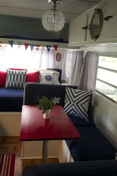 Gypsy Interior Design Dress My Wagon  Serafini Amelia  Travel Trailer-The Lake House (Our Vintage Camper Makeover) - Laurie Jones Home