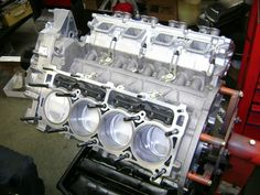 The Red Barron's aluminum big bore stroker HEMI. Build by BES and HHP