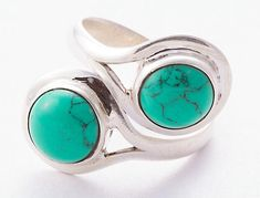 Unique Handmade Turquoise Ring by Midas-Jewelry, Made from 925 sterling Silver by using Natural Turquoise Stones . Pick this Turquoise Ring, to add new definition to your Personality .About the Brand- Associated with glamour, style and class,Midas-Jewelry fashion jewellery appeals to women across all age-groups. Midas-Jewelry jewellery line includes necklaces, earrings, bracelets, anklets and pendants made from Sterling Silver, semi-precious stones.