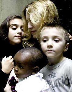 Madonna and children Lourdes, Rocco and David
