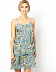 Image 1 ofFrock and Frill Embellished Cami Shift Dress
