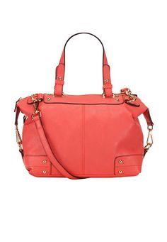 double strap satchel in coral (original price, $49) available at #maurices #SummerLovin