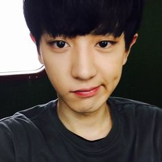 150617 real__pcy: 변신!!!! #민성이의귀환 # I want to poke his dimple X3