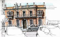 Luis Ruiz Padrón_watercolor paintings_city-art__urban sketch_акварель_город