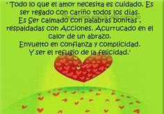 〽️Todo lo que el amor necesita es cuidado. Es ser regado con cariño todos los días...