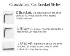 Modern Shelf Brackets Iron L Bracket for Open Shelving