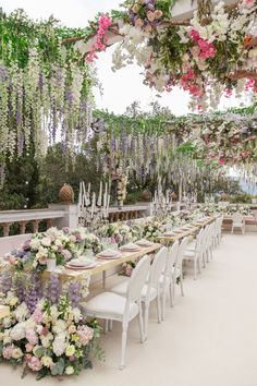 Have you ever seen a more romantic wedding reception setting? So much thought went into the decor for this wedding dinner held on the Romantic Wedding Receptions, Wedding Dinner, Wedding Themes, Wedding Styles, Rustic Wedding, Wedding Venues, Wedding Decorations, Wedding Ideas, Wedding Art