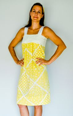 EASY pillowcase dress! I would wear mine over sleeves because I like that look :)