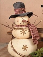 cute snowman gourds I've done some similar but on a larger scale. Christmas Sewing, Primitive Christmas, Christmas Snowman, Rustic Christmas, Winter Christmas, Christmas Ornaments, Frosty The Snowmen, Cute Snowman, Snowman Crafts