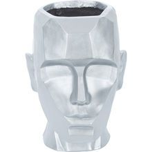 Silver Geometric Carved Head Planter 32x22cm Head Planters, Kitchen Utensils, Kitchen Furniture, Home Accessories, Picture Frames, Carving, Elegant, Silver, Products