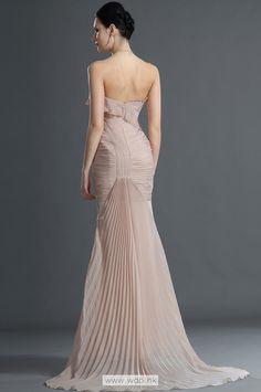 Fabulous pleated strapless sweetheart mermaid chiffon evening dress $132.8