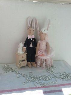 Интерьерные свадебные зайцы в стиле тильда #tilda #wedding #bunny