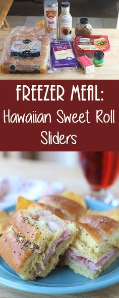 Hawaiian Sweet Roll Sliders - an easy make-ahead freezer meal for parties, potlucks, picnics or even just a quick family dinner!