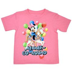 Disney Toddler Girls Minnie Mouse T-Shirt Pink