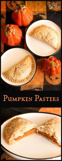 You don't have to ride the Hogwarts Express or visit Honeydukes to enjoy Pumpkin Pasties.  You can make them in your own magical kitchen! #pumpkinpasties #harrypotterfood