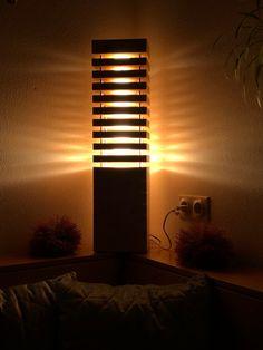 Wunderschöne große Zirbenstehlampe im Auftrag eines Kunden. Wir waren sehr stolz auf diese Lampe! :)  Gerne jederzeit wieder! Lighting, Home Decor, Floor Lamp Base, Proud Of You, Sparkle, Timber Wood, Nice Asses, Decoration Home, Room Decor