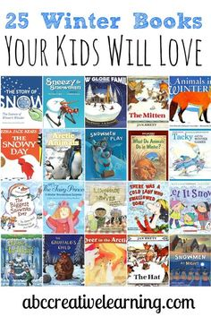 25 Winter Books Your Kids Will Love! Great to be used for Winter science activities as well. - abccreativelearni...