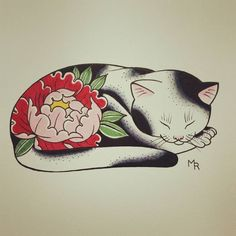 My father has always been a cat person so I made him a monmon cat for his birthd… Cat tattoo – Fashion Tattoos Japanese Tattoo Symbols, Japanese Tattoo Art, Japanese Tattoo Designs, Cute Tattoos, Body Art Tattoos, Small Tattoos, Sleeve Tattoos, Medium Tattoos, Temporary Tattoos