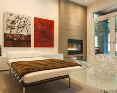 Artistic Creative Style Interior Design Creating Luxurious Interior with awesome high definition photo: Remarkable Bedroom Design With Modern Fireplace Noble Residence Design As Exquisite Pic ~ ovceart.com Interior Design Inspiration