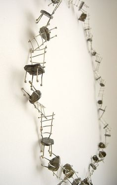 Necklace | Lisa Hashimoto.  Chairs necklace