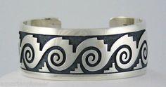 Sterling silver cuff bracelet by Lawrence Saufkie