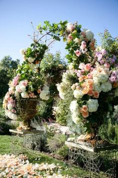 Now this is a garden arch! Beautiful.