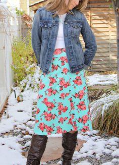 Love Notions Sybil Skirt gored version by SewSophieLynn