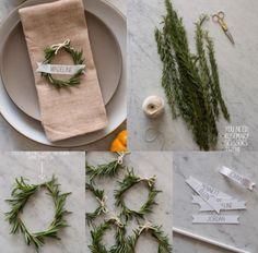 Schöne Idee für Namenskärtchen zu Weihnachten. Noch mehr Ideen gibt es auf www.Spaaz.de