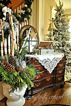 Christmas Decorations 2012 by Serendipity Refined  A fabulous share featured at WebGarden Today!  Join us at https://www.facebook.com/WebGardenGroup?ref=hl  Original link is here---->>>> http://www.serendipityrefined.com/2012/12/2012-holiday-house-walk-stop-19.html#