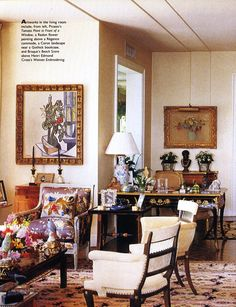 Sister Parish includes Picasso's 'Tomato plant in front of window' - Betsey Whitney's home.