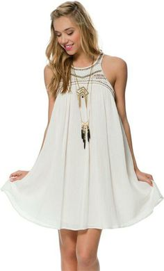 Billabong Forever Sand baby doll dress. http://www.swell.com/Womens-Dresses/BILLABONG-FOREVER-SAND-BABY-DOLL-DRESS?cs=OF